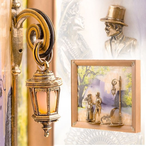 Картины из оникса и бронзы