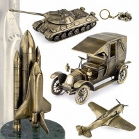 Масштабные модели техники из бронзы