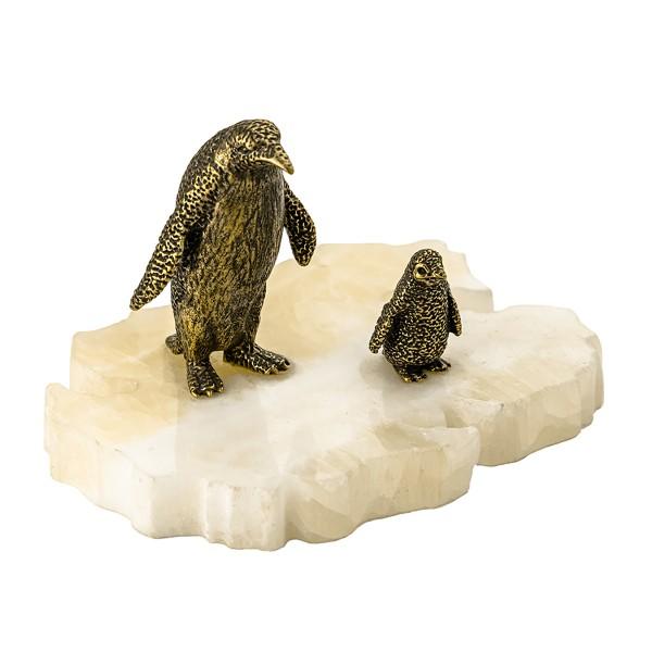 Статуэтка Пингвин и пингвинёнок на подставке