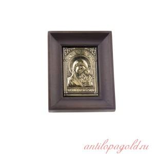 Чеканная икона Богородица Казанская в окладе