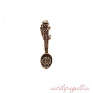 Коллекционная сувенирная ложка Лягушка-загребушка