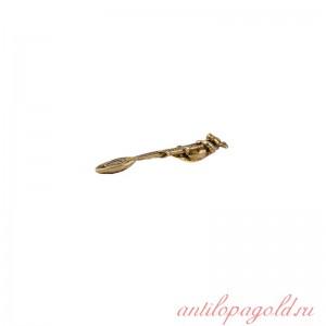 Коллекционная сувенирная ложка Мышка-загребушка