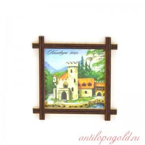 Магнит-рамка маленькая с холстом Замок коварства и любви