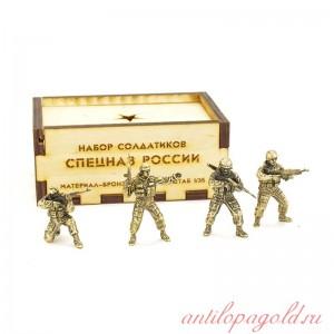 Набор солдатиков Спецназ России(4шт, 1:35)