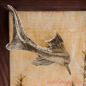 Картина угловая Рыба на ониксе