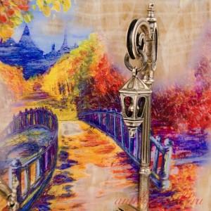 КАРТИНА Вечерняя прогулка. Мост