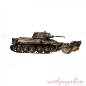 Танк т-34/76 1:35 с минным траллом