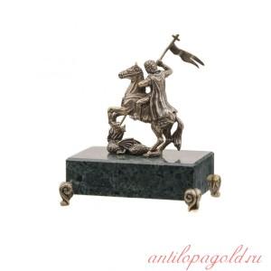 Статуэтка Георгий Победоносец на камне
