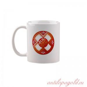 Коллекционная сувенирная кружка с обережным символом Сварожич