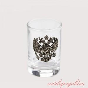 Коллекционная сувенирная рюмка Герб РФ (6шт.)