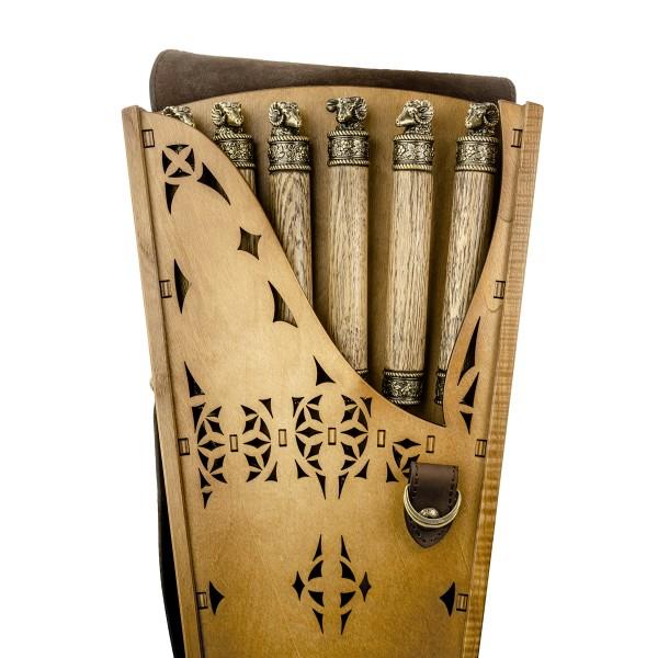 Коллекционный сувенирный набор шампуров Голова барана