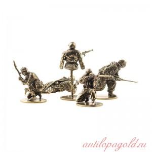 Набор солдатиков Советские снайперы(5шт, 1:35)