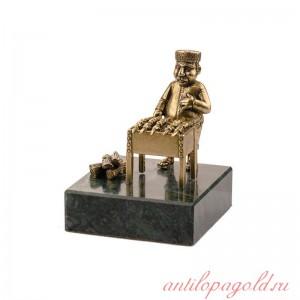 Статуэтка Шашлычник на натуральном камне