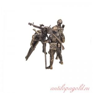 Набор солдатиков Расчет с крупнокалиберным пулемётом ДШК(4шт, 1:35)