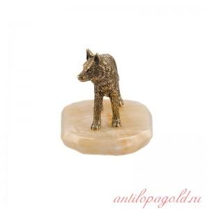 Статуэтка Волк на ониксе