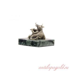 Статуэтка Знак зодиака Телец на камне