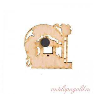 Сувенирный деревянный магнит Кисловодск. Зеркальный пруд