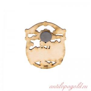 Сувенирный деревянный магнит Пятигорск. Эолова арфа