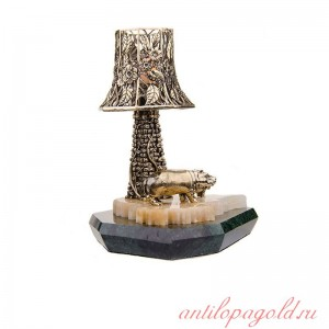 Светильник с башней Бегемотиха и бегемотик