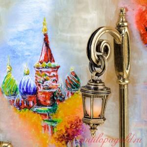 КАРТИНА Вечерняя прогулка. Москва с подсветкой