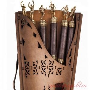 Коллекционный сувенирный набор шампуров (6шт.) с наконечником Футбол