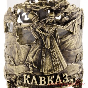 Коллекционный сувенирный подстаканник Кавказ