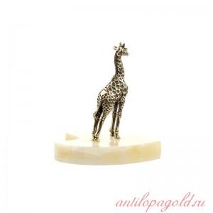 Статуэтка Жираф маленький на натуральном камне