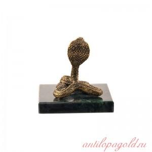 Статуэтка Змея. Большая на натуральном камне