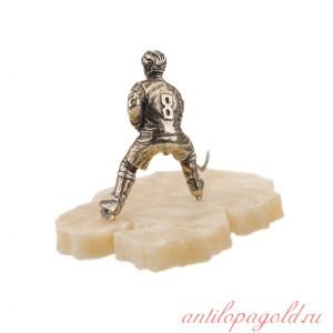 Статуэтка Хоккеист. Полевой игрок на ониксе