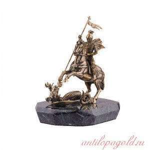 Статуэтка Георгий Победоносец большой в шлеме