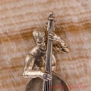 Картина Скрипачка и контрабасист на ониксе