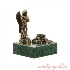 Статуэтка Ангел с подсвечником на подставке