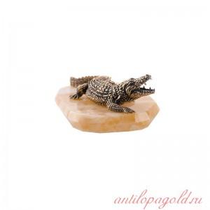 Статуэтка Крокодил на камне