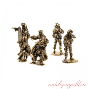 Набор солдатиков(6шт, 1:35) Антитеррористическая группа Вымпел