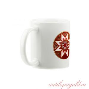Коллекционная сувенирная кружка с обережным символом Алатырь
