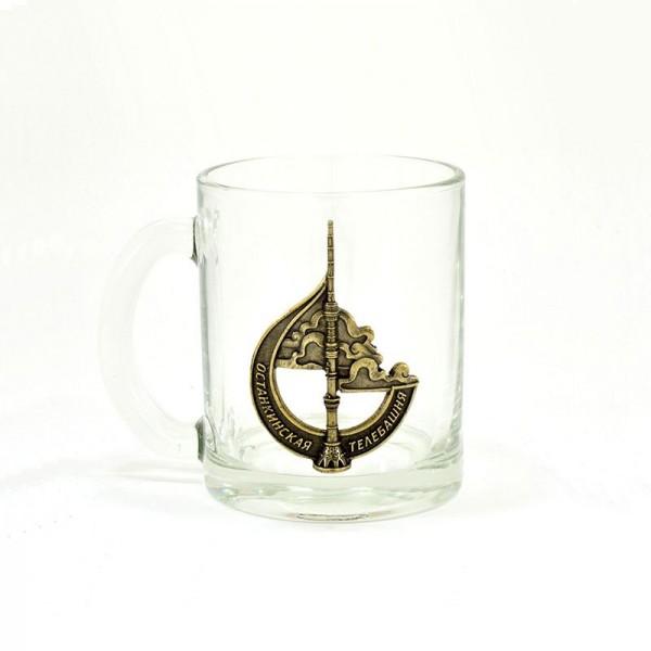 Коллекционная сувенирная кружка Останкинская башня. Бронза