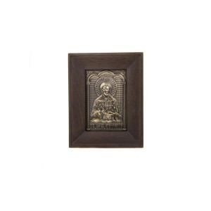 Чеканная икона Матрона Московская в окладе