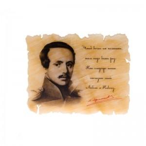 Картина на ониксе М.Ю. Лермонтов