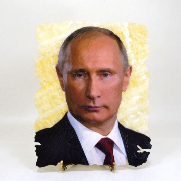 Картина на ониксе В.В. Путин