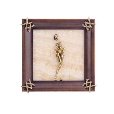 Картина-панно из камня оникс Обнаженная девушка