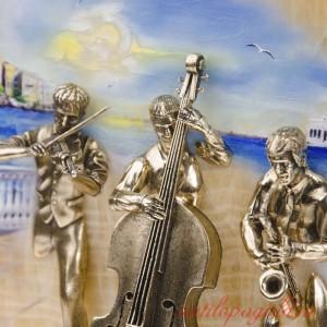 КАРТИНА ТРИО рис со скрипачом