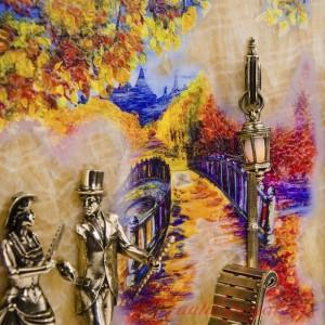 КЛЮЧНИЦА Вечерняя прогулка. Мост с подсветкой