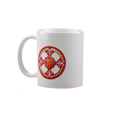 Коллекционная сувенирная кружка с обережным символом Макошь