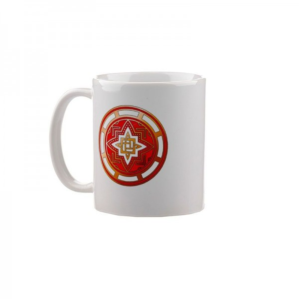 Коллекционная сувенирная кружка с обережным символом Звезда Руси