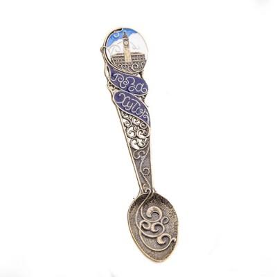 Коллекционная сувенирная ложка Роза Хутор