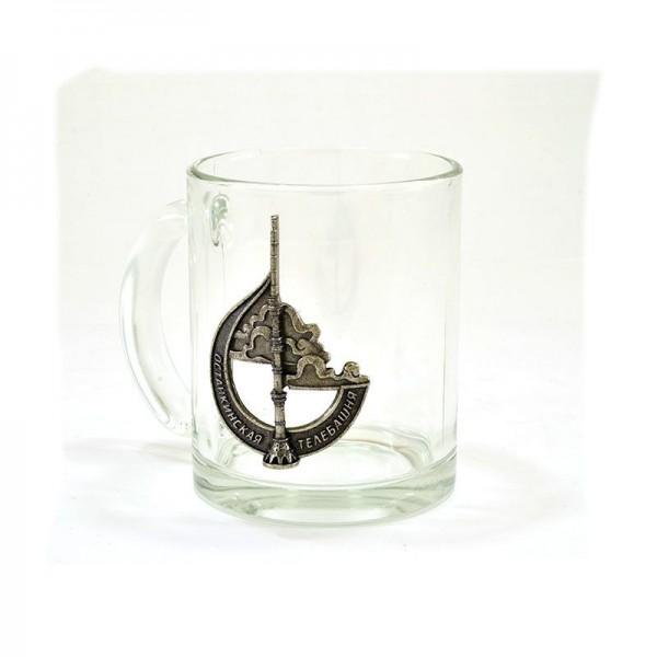 Коллекционная сувенирная кружка Останкинская башня. Олово