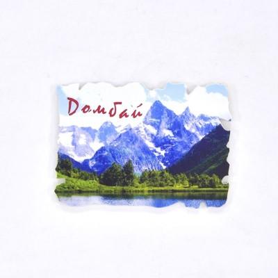 Пластиковый магнит Домбай. Озеро Туманлы-Кёль