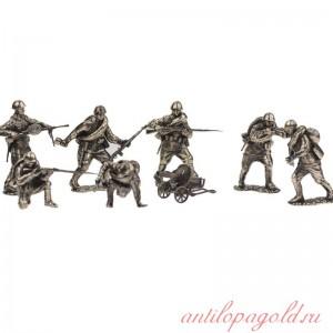 Набор солдатиков. Пехота красной армии 9 шт.