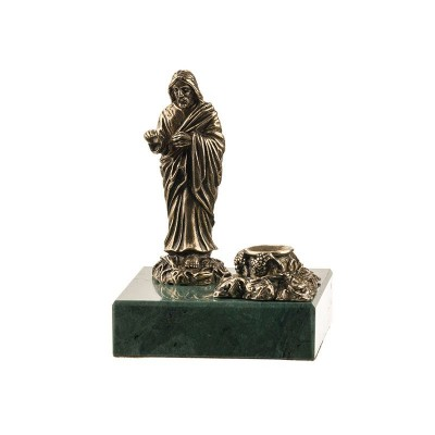 Статуэтка Иисус Христос с подсвечником на камне