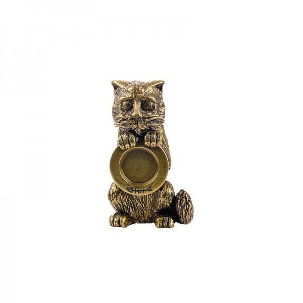 Статуэтка Кот с тарелкой